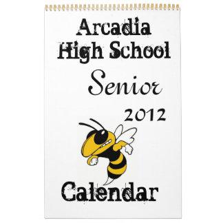Arcadia High School Senior 2012 Calendar