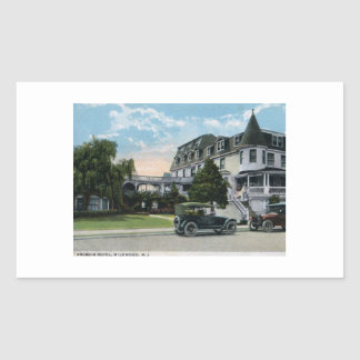 Arcadia Hotel, Wildwood, New Jersey 1924 Vintage Rectangular Sticker