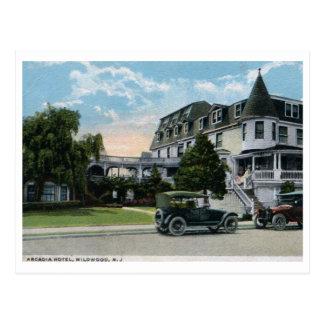 Arcadia hotel, Wildwood, vintage 1924 de New Tarjeta Postal