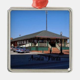 Arcadia la Florida Adorno Navideño Cuadrado De Metal