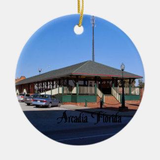Arcadia la Florida Adorno Navideño Redondo De Cerámica