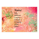 ARCADIA  / MAGIC GOLD SPARKLES  Pink Green Large Business Card