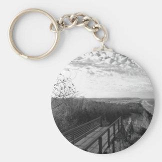 Arcadia Overlook, Michigan Basic Round Button Keychain