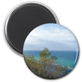 Arcadia Overlook Panorama, Michigan 2 Inch Round Magnet