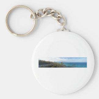 Arcadia Overlook Panorama, Michigan Basic Round Button Keychain