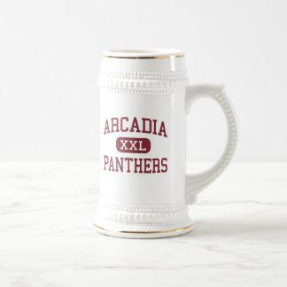 Arcadia - panteras - centro - Rochester Nueva York Jarra De Cerveza