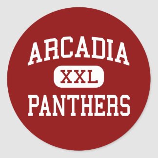 Arcadia - Panthers - Middle - Rochester New York Classic Round Sticker