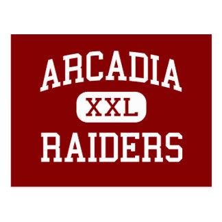 Arcadia - Raiders - High - Arcadia Wisconsin Postcard