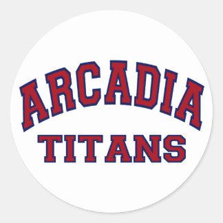 Arcadia Titans Classic Round Sticker