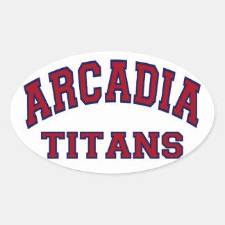 Arcadia Titans Oval Sticker