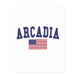 Arcadia US Flag Postcard