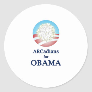ARCadians for Obama Classic Round Sticker