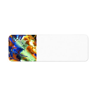 -arcane-abstract-texture-cool-neat-unique ABSTRAC Return Address Label