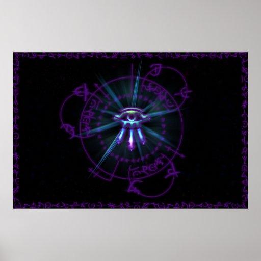 Arcane Circle Purple Poster