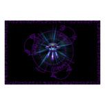 Arcane Circle Purple Posters