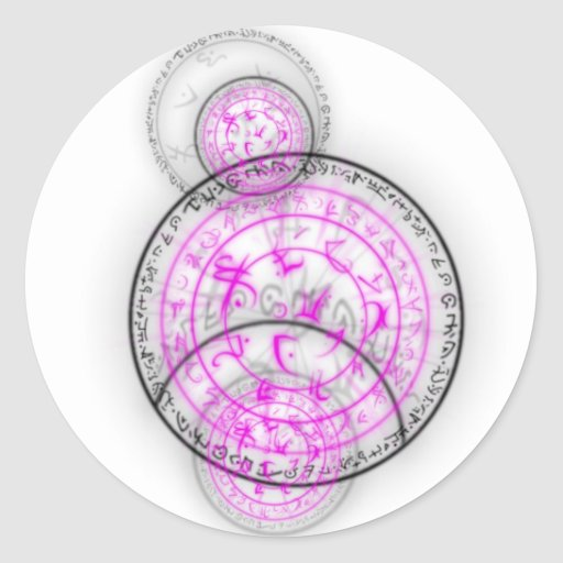 Arcane Mystic Shapes Classic Round Sticker
