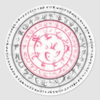 Arcane Mystic Shapes Classic Round Sticker