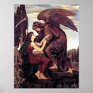 Arcángel Azrael el ángel de la muerte Póster