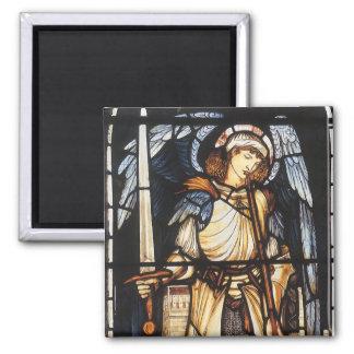 Arcángel del vintage San Miguel de Burne Jones Imanes Para Frigoríficos