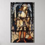 Arcángel del vintage, San Miguel de Burne Jones Poster