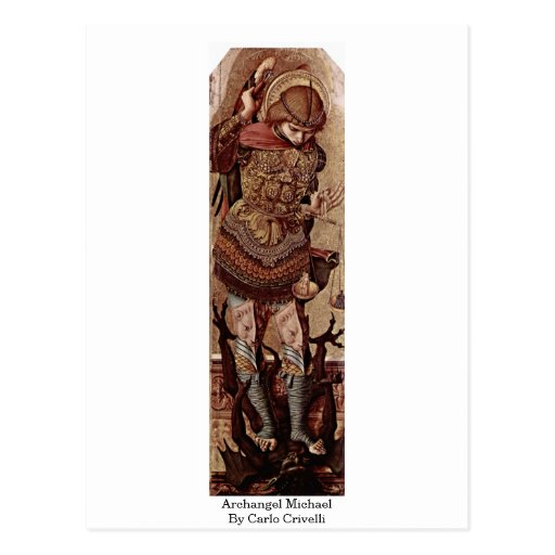 Arcángel Michael de Carlo Crivelli Tarjetas Postales