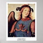 Arcángel Michael de Pedro Perugino Poster
