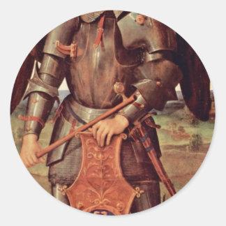 Arcángel Michael de Perugino Pedro (la mejor Pegatina Redonda