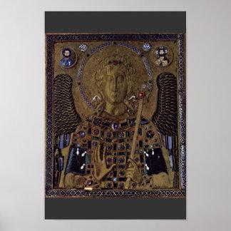 Arcángel Michael por DES Erzenge de Meister Der Póster