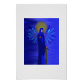 Arcángel Michael - protección divina Posters
