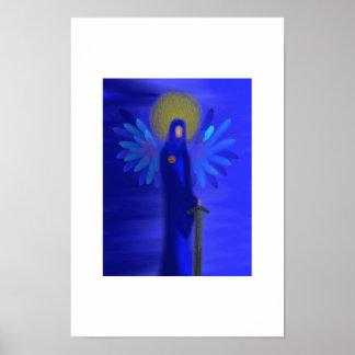 Arcángel Michael - protección divina Póster