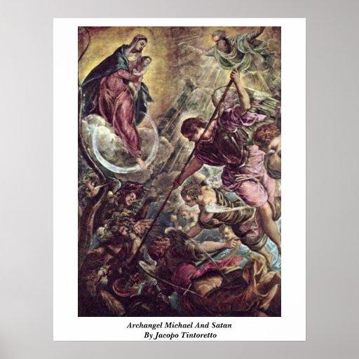 Arcángel Michael y Satan de Jacopo Tintoretto Poster