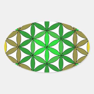 Arcángel Raphael01 Pegatina Ovalada