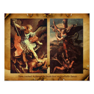 ARCÁNGEL VANGUISHING SATAN de San Miguel Posters