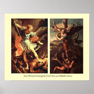 ARCÁNGEL VANGUISHING SATAN de San Miguel Impresiones