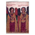 Arcángeles etíopes Michael y navidad de Gabriel Tarjeta De Felicitación