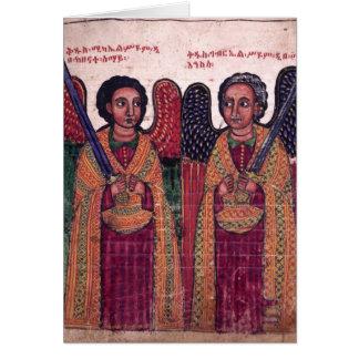 Arcángeles etíopes Michael y navidad de Gabriel Tarjetón