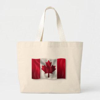 Arce canadiense de la hoja del emblema del país de bolsas de mano