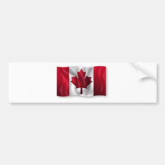 Arce canadiense de la hoja del emblema del país de pegatina de parachoque