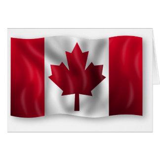 Arce canadiense de la hoja del emblema del país de tarjeta de felicitación