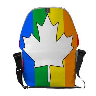 ARCE CANADIENSE DEL ORGULLO GAY BOLSAS MESSENGER