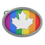 ARCE CANADIENSE DEL ORGULLO GAY HEBILLAS CINTURON OVALES