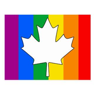ARCE CANADIENSE DEL ORGULLO GAY TARJETAS POSTALES