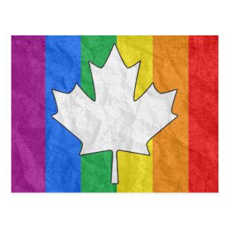 ARCE CANADIENSE DEL ORGULLO GAY TARJETA POSTAL