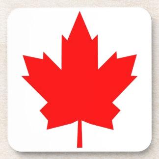 Arce canadiense posavasos de bebidas