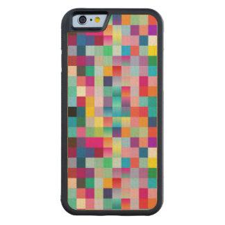 Arce coloreado multi del diseño de madera funda de iPhone 6 bumper arce