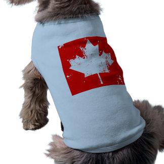 Arce de la bandera de Canadá del Grunge - blanco Playera Sin Mangas Para Perro