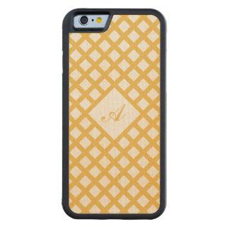 Arce de la vara de oro del amarillo de la funda de iPhone 6 bumper arce