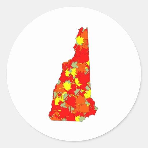 Arce de New Hampshire Pegatina Redonda