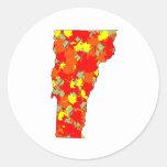 Arce de Vermont Etiquetas Redondas