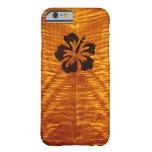 Arce flameado con Hisbiscus Funda De iPhone 6 Barely There